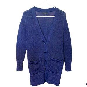 Banana Republic Sweater Cardigan Navy Blue Small